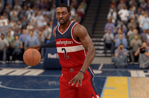 Current Washington Wizards jerseys, as seen on John Wall in NBA Live 16