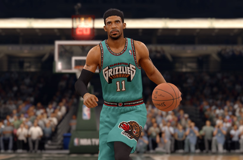Retro Vancouver Grizzlies jerseys, as worn by Mike Conley in NBA Live 16