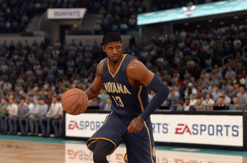 Paul George dribbling in NBA Live 16