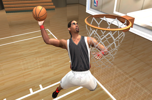 Busta Rhymes in NBA Live 2003