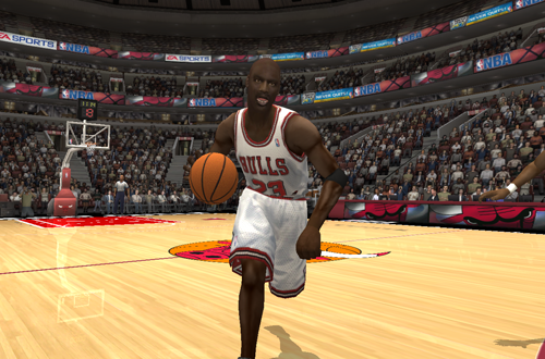 Michael Jordan in the 1995/1996 Roster for NBA Live 2004