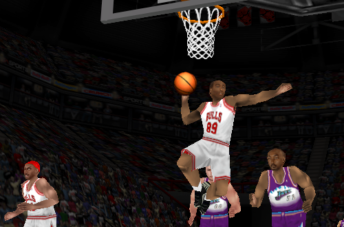 Roster Player dunking in NBA Live 98