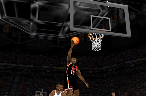 Tim Hardaway with the layup in NBA Live 98