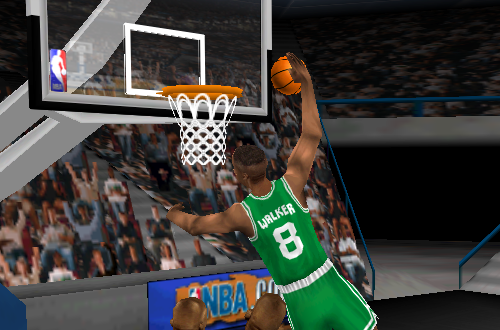 Antoine Walker dunks in NBA Live 99