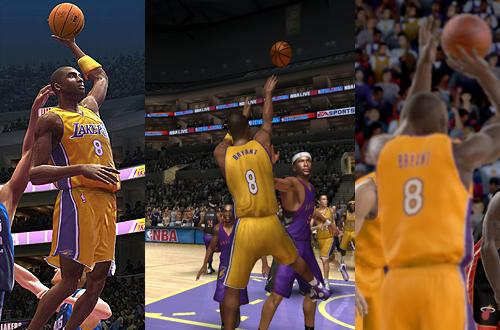 Kobe Bryant in NBA Live 06 & NBA 2K6