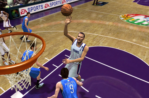 Tony Parker playing for France in NBA Live 08