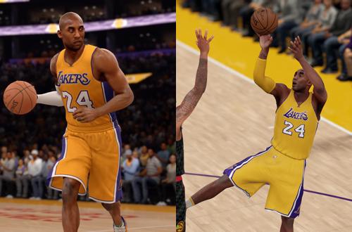 Kobe Bryant in NBA Live 16 & NBA 2K16