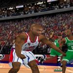 Charles Barkley celebrates in NBA Live 2000