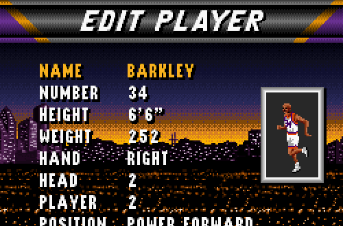 Charles Barkley in NBA Live 96 SNES