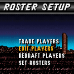Roster Setup in NBA Live 96 SNES