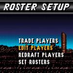 Roster Setup in NBA Live 96 SNES