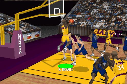 Kobe Bryant dunking in NBA Live 97