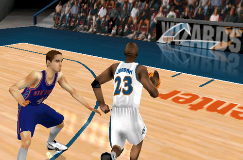 Michael Jordan in one of Andrew's roster patches for NBA Live 99