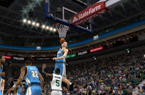Dunking in NBA 2K13's MyCAREER