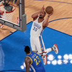 Kevin Durant takes on the Warriors in NBA 2K16