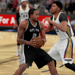 Kawhi Leonard drives in NBA 2K16