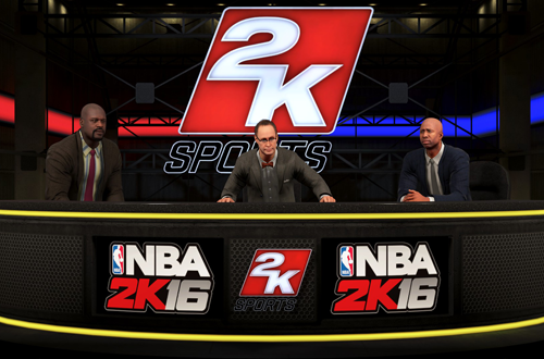 Shaq, EJ and Kenny in NBA 2K16