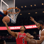 Derrick Rose with the layup in NBA Live 16