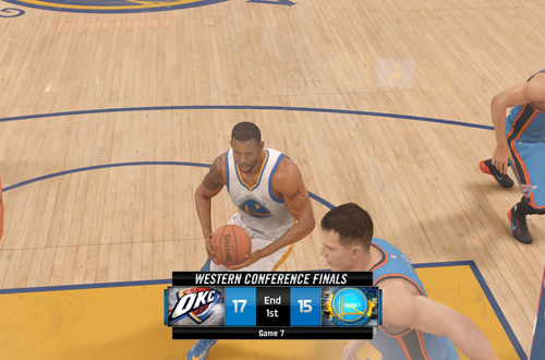 Quarter End with ESPN Presentation in NBA Live 16