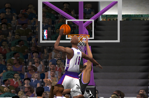 Vince Carter dunks in NBA Live 2001