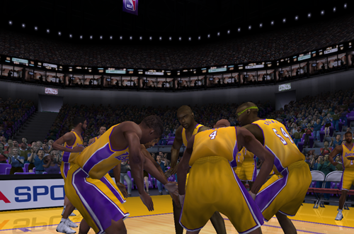 Los Angeles Lakers Pre-Game Introduction in NBA Live 2001