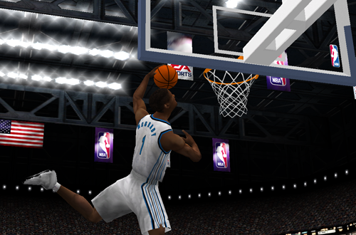 Tracy McGrady dunks in NBA Live 2001
