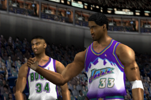 Scottie Pippen in Andrew's Ill-Fated Utah Jazz Franchise in NBA Live 2002