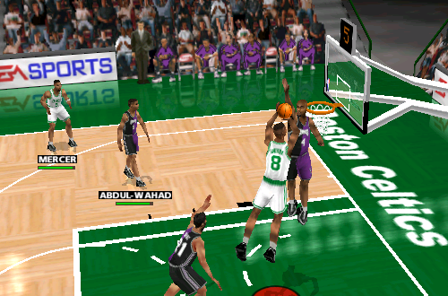 Antoine Walker with the leaner in NBA Live 99