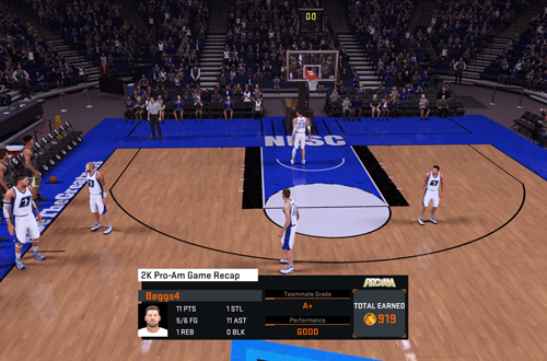 Post-Game Grade in NBA 2K16's 2K Pro-Am