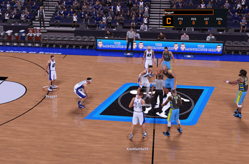 Tipping Off in the Joel Anthony Arena in 2K Pro-Am in NBA 2K16