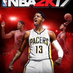 NBA 2K17 Cover featuring Paul George