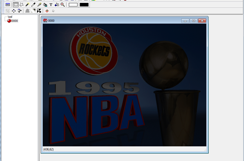 Opening NBA Live 95 Art Files in the EA Graphics Editor