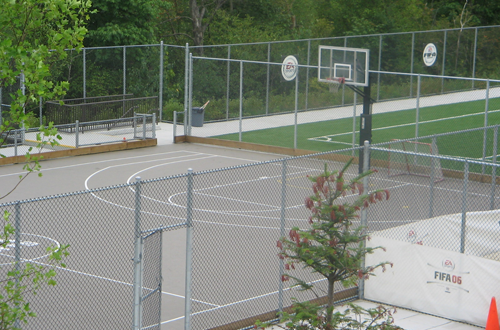 Outdoor Basketball Court at EA Canada
