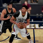 NBA 2K16: Anthony Davis posts up Tim Duncan
