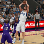Dirk Nowitzki shoots the basketball in NBA 2K16