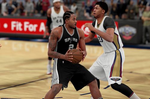 Kawhi Leonard drives in NBA 2K16