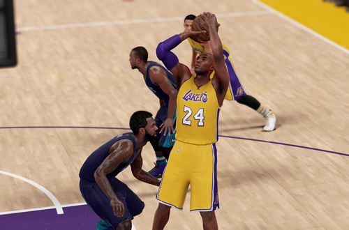 Kobe Bryant shoots the basketball in NBA 2K16