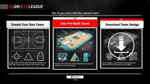 NBA 2K17: Expansion Teams in MyGM & MyLEAGUE