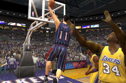 Yao Ming vs. Shaquille O'Neal in NBA Live 2003