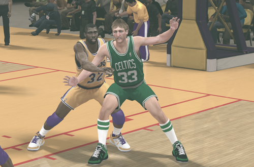 Magic Johnson vs. Larry Bird in NBA's Greatest in NBA 2K12