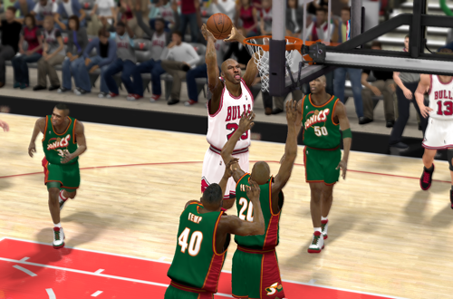 Michael Jordan in an NBA's Greatest game in NBA 2K12