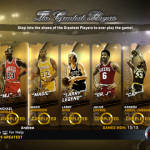 NBA's Greatest Menu in NBA 2K12