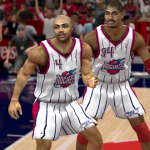 Charles Barkley & Hakeem Olajuwon on the 1997 Houston Rockets in the Ultimate Base Roster for NBA 2K14