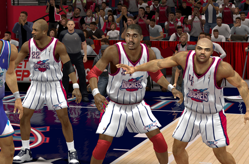 Charles Barkley, Clyde Drexler & Hakeem Olajuwon on the 1997 Houston Rockets in the Ultimate Base Roster for NBA 2K14