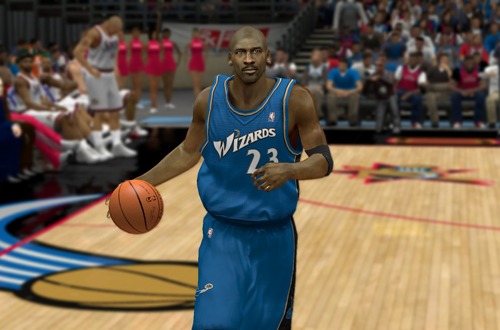 Michael Jordan on the 2003 Washington Wizards in the Ultimate Base Roster for NBA 2K14
