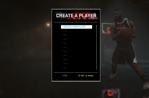 Create-a-Player in NBA 2K16
