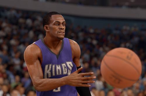 Rajon Rondo passes the basketball in NBA Live 16