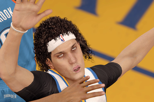 Anderson Varejao rolls his eyes in NBA Live 16
