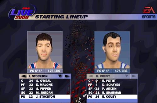 90s All-Stars vs 50s All-Stars in NBA Live 2000