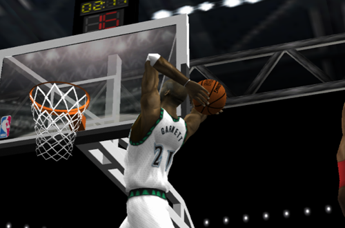 Kevin Garnett in NBA Live 2002